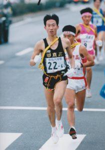 うの整骨院院長の宇野彰男の全国高校駅伝6区区間賞を獲った時の写真