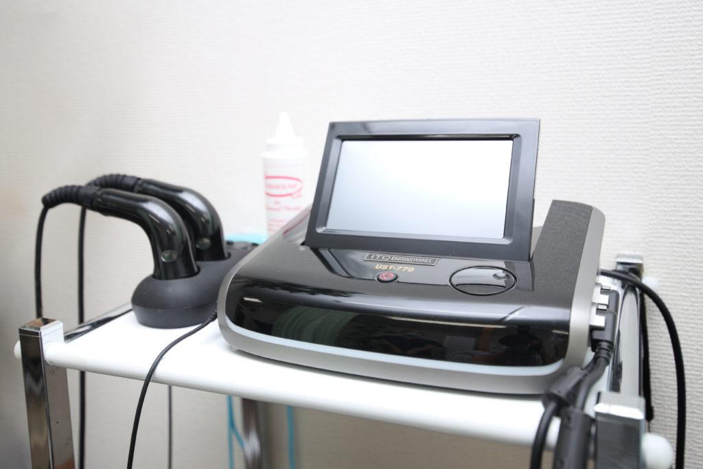 坐骨神経痛(ヘルニア)の局所的な痛みに効果がある超音波治療器