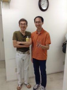 AKA施術の恩師二瓶良耕先生と宇野院長とのツーショット写真