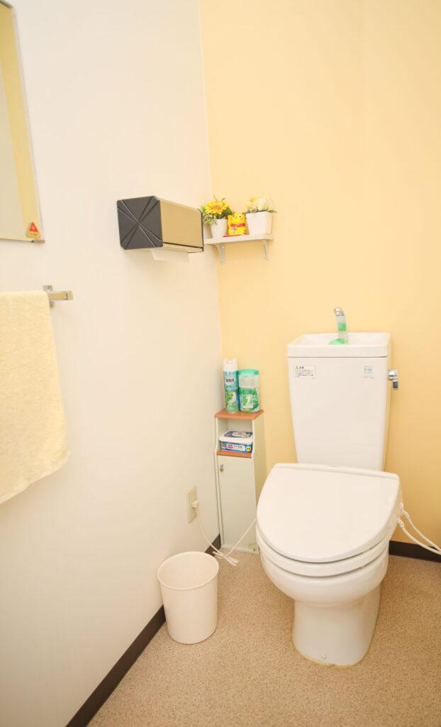 うの整骨院内のトイレの風景