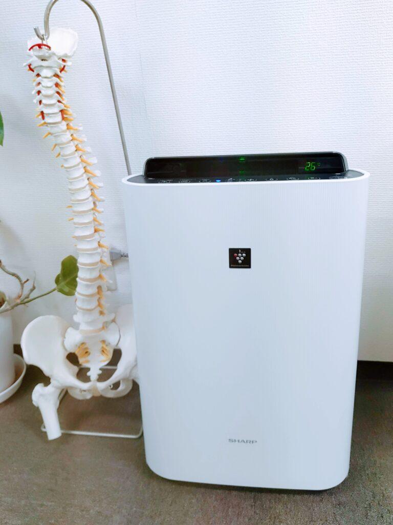 うの整骨院設置のウィルス対策、雑菌対策、細菌対策用の空気清浄機